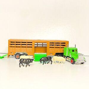 🐄 Majorette 🐄 Super Movers 614 Livestock Semi Truck transporter 1:87 die-cast