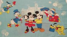 WALT DISNEY PRODUCTIONS VINTAGE MICKEY & MINNIE MOUSE PILLOW CASE  1970s