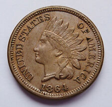 1864 U.S. INDIAN HEAD PENNY ~ COPPER - NICKEL ~ EXTRA FINE CONDITION