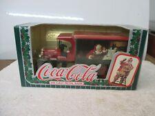 Vintage ERTL COCA-COLA 1993 DIE-CAST Metal Christmas Santa Truck Bank