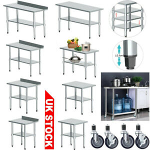 Westwood Stainless Steel Commercial Catering Prep Table Work Bench Kitchen Top