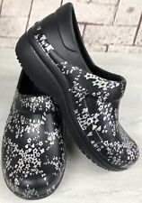 Crocs Dual Comfort Black Silver Mule Clogs Water Slip Resistant Shoes Sz. 5