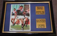 BRAD FITTLER~*~SIGNED & Framed~*~ROOSTERS + COA
