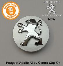 Peugeot Apollo Alloy Wheel Centre Cap Set x 4 New Genuine 206 407 807 Partner