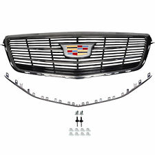 OEM NEW Front Grille w/ Cadillac Emblem Black Chrome 15-18 ATS CTS 23499399