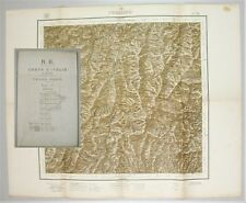 Cartina Emilia-Romagna N. E. CARTA ITALIA al 100000 Foglio 98 VERGATO 1904 IGM