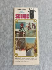 Vintage 1960s MInnesota Highway 6 Scenic Map Scorpion Mopeds Crosby Minnesota
