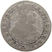 AUSTRIA 15 KREUZER 1662 BRESLAU LEOPOLD I. #t128 231