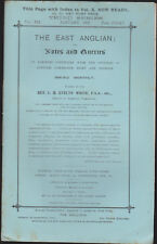 The East Anglian or Notes & Queries Rv Evelyn White Vol XII Jan-Dec 1907 12 iss