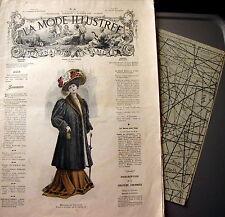 LA MODE ILLUSTREE + PATRON,  n° 41/1908 Voir modèles à réaliser, FRENCH PATTERN