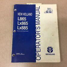 New Holland L865 Lx885 Skid Steer Loader Operators Manual Maintenance 42086531