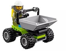 LEGO 60124 City Volcano Tipper Truck & Driver Minifigure only NEW split from set