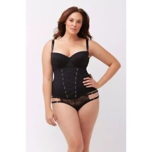 CACIQUE Seriously Sexy Lace Corset Bustier Black 42DDD