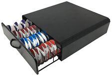 64 Tassimo T-Disc Pod Coffee Capsule Holder Dispenser Drawer Storage Rack (BLK)