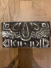 Oro Lentejuelas Clutch Bag Nuevo Aspecto Brillante Fiesta Glam Club Vacaciones Lindo Inteligente