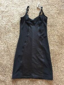 Bnwt John Lewis Glam Lace WYOB Control Slip in Black - Size 8
