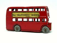 Matchbox Lesney No.5a Leyland London Bus (PAPER LABELS)
