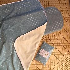 Bugaboo Cameleon carrycot bassinet fitted sheets x2 & Blanket Stars Light Blue