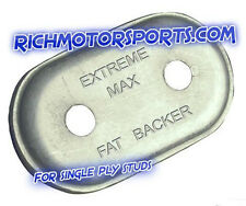 24 Qty. Extreme Max FAT Double Aluminum Backer for SINGLE ply snowmobile studs