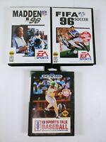 Sega Genesis Sports Game Lot: Madden 96, FIFA 96, Sports Talk Baseball