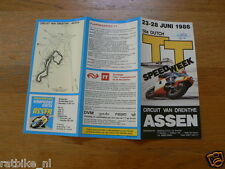 1986 FLYER DUTCH TT ASSEN 1986 GRAND PRIX,MOTO GP