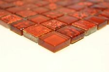 Mosaik Glas Mix Classic Quadrat XCM CB30 rot Matte 300x300x8mm