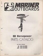 1978 MARINER OUTBOARD 8B HP PARTS MANUAL M-90-83774 (383)