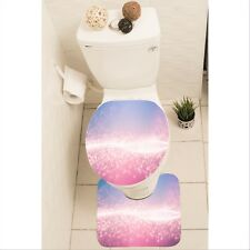 Glitter Set of 3 Bathroom Rug Set Mat Toilet Lid Cover y70 y0382