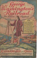 GEORGE WASHINGTON'S RAILROAD RARE 1948 GIVEAWAY PROMO CHESAPEAKE & OHIO RAILWAY