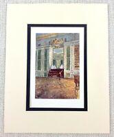 Il Palazzo Di Versailles King Louis XV Biblioteca Interno Antico Stampa Ca. 1906