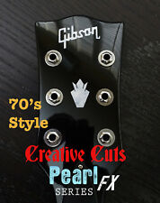 70s Gibson & Crown Headstock Decal MOP Premium Vinyl Decal Inlay + more options