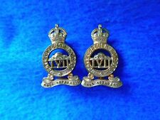 GENUINE PAIR PRE WWI CANADIAN 57TH PETERBOROUGH RANGERS COLLAR BADGES, W. SCULLY