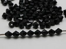 200 Black Faceted Acrylic Bicone Beads 8mm Spacer Bead