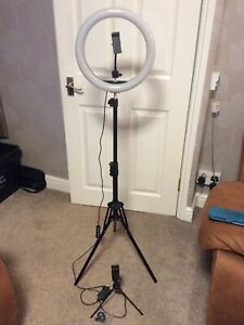 Selfie Ring Light with Tripod Stand & Phone Holder Tall, 12.6 inch