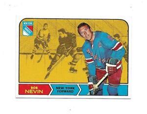 1968-69 Topps:#76 Bob Nevin,Rangers