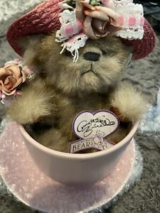 Annette Funicello Collectible Bear Co Cafe Carline Cup W/ Matching Saucer & COA
