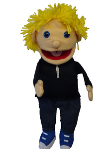 """Puppet boy tom 15"""" Ventriloquist.Play .Moving mouth &hands"""