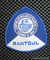 "RANTOUL ILLINOIS EMBROIDERED SEW ON PATCH TOURIST SOUVENIR UNIFORM 4"" x 4 1/4"""