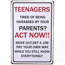 Adolescenti BAMBINI REGALO targa segno Ragazzi Ragazze Bedroom Door muro genitori