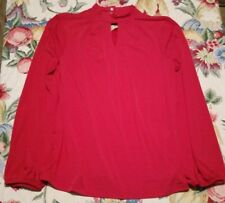 NWT Chico's Size 1 Red Eyelet Top
