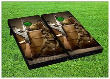 Gun Stach CORNHOLE BEANBAG TOSS GAME w Bags Game Boards  Set 1013