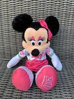 "Disneyland Walt Disney World Parks Minnie Mouse Plush 15"" 2011 **Rip To Skirt**"