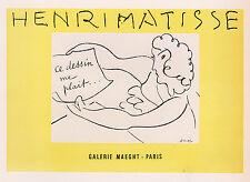 "Enriching Antique Henri MATISSE Exposition Poster ""Art Lover"" FRAMED Signed COA"