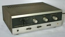 Vintage Lafayette LA324 Solid State Stereo Amplifier papers and box