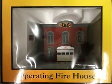 MTH Railking 30-9102 Operating Fire House O-Gauge NIB (F11)