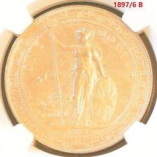 1897/6 B China Hong Kong UK Great Britain Silver Trade Dollar NGC AU Details