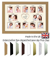 My First Year Double Mounted 12 Months 1st Baby Photo Frame by Photos in a Word