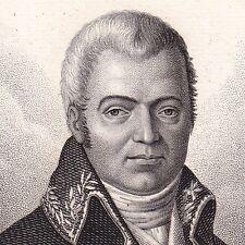 Portrait XIXe Pierre Marie Auguste Broussonet Médecine Médecin Montpellier 1824