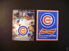 Chicago Cubs Baseball Vintage Sports Schedules