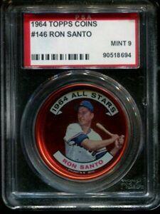 1964 TOPPS COINS #146 RON SANTO CUBS HOF PSA 9 A0003788-694